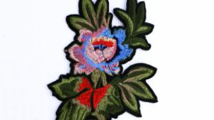 Çiçek desenli nakış motif.