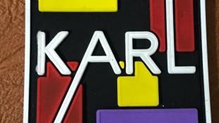Karllagerfield kauçuk etiketler